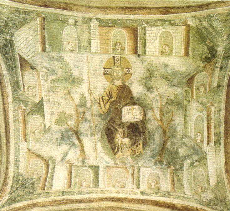 Civate, chiesa di san pietro al monte, scena apocalittica xi secolo - Arte ottoniana - Wikipedia