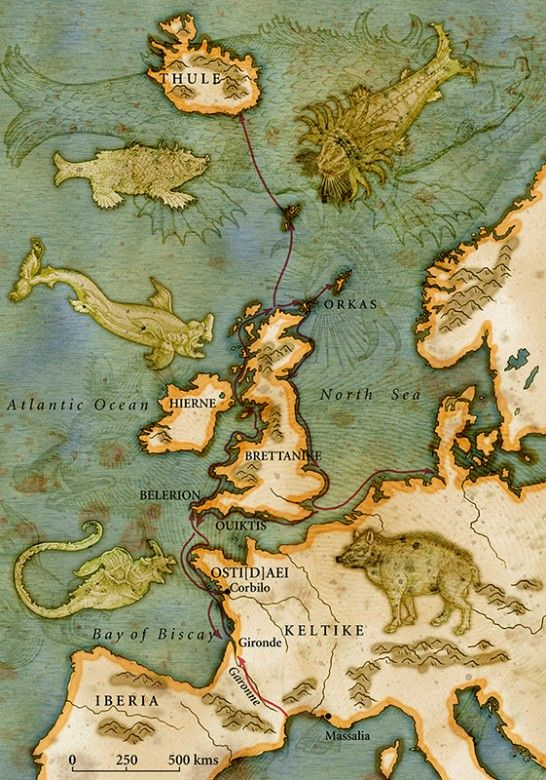 Map of Ancient Europe Illustration - Martin Sanders