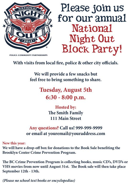 National Night Out Invite - NNO                                                                                                                                                                                 More