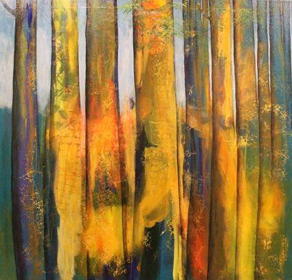 Tree Meditation. Acrylic. 90cm x 90cm. Shirley Dougan