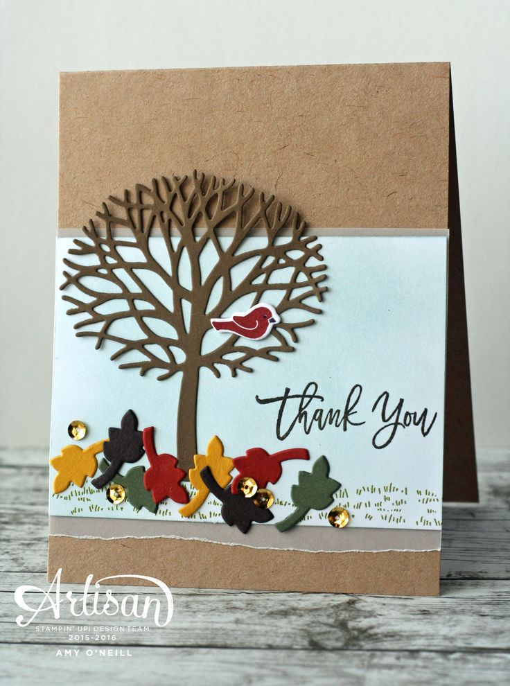 Fall Tree with Stampin' Up! Thoughtful Branches
