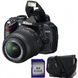 Camera foto digitala NIKON D3000 18-55 VR 10.2 Mp 3x 3 inch negru geanta card de memorie 4GB Camere foto-video aparate foto dslr Nikon Altex