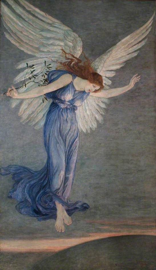 "pre-raphaelisme: "" The Angel of Peace by Walter Crane """