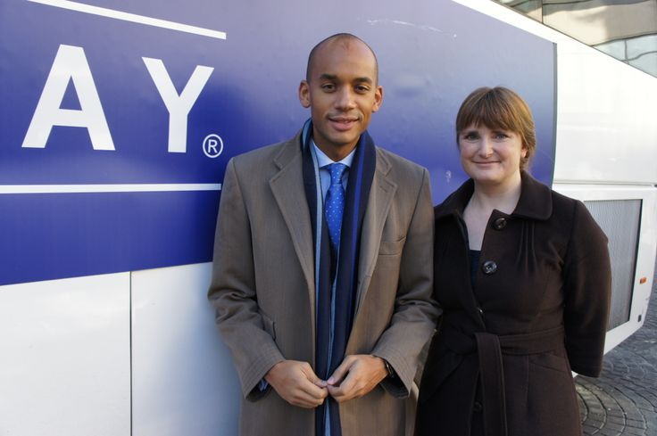Kate Tyler with Chuka Umunna MP - the Shadow Business Secretary