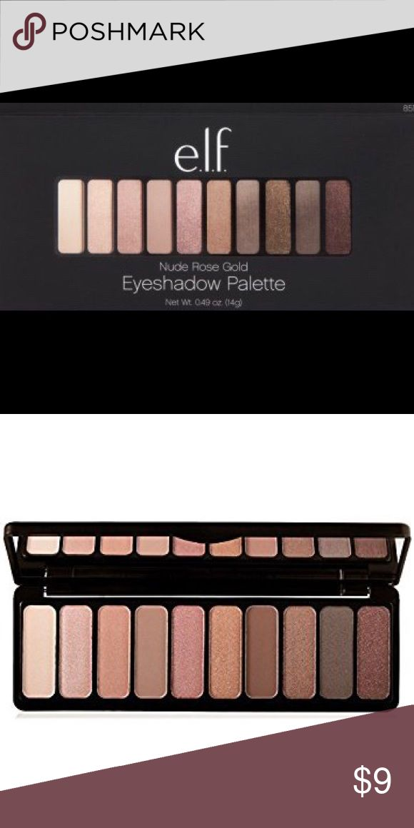 ELF COSMETICS EYESHADOW PALETTE Elf Cosmetics Nude Rose Gold eyeshadow palette   Brand new in box ELF Makeup Eyeshadow #elfmakeup #goldeyeshadows