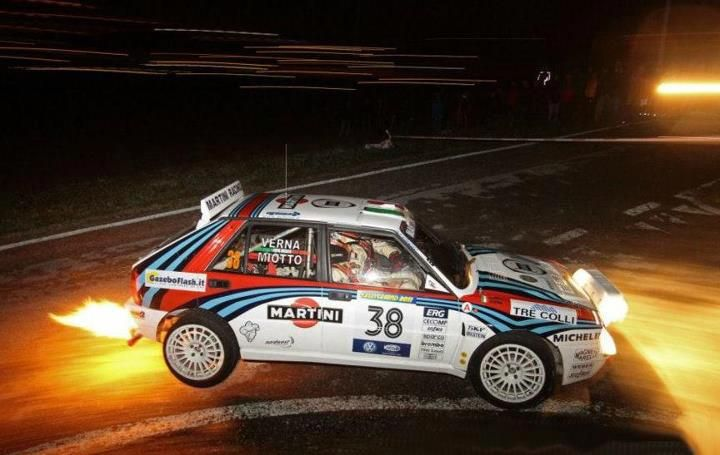 Lancia Delta Integrale rally car