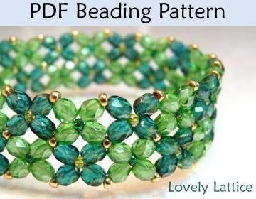 Lovely Lattice Bracelet PDF Beading Pattern