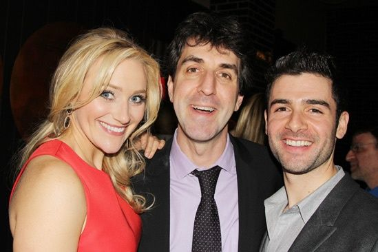 The stars and writer+director of THE LAST FIVE YEARS: Betsy Wolfe – Jason Robert Brown – Adam Kantor