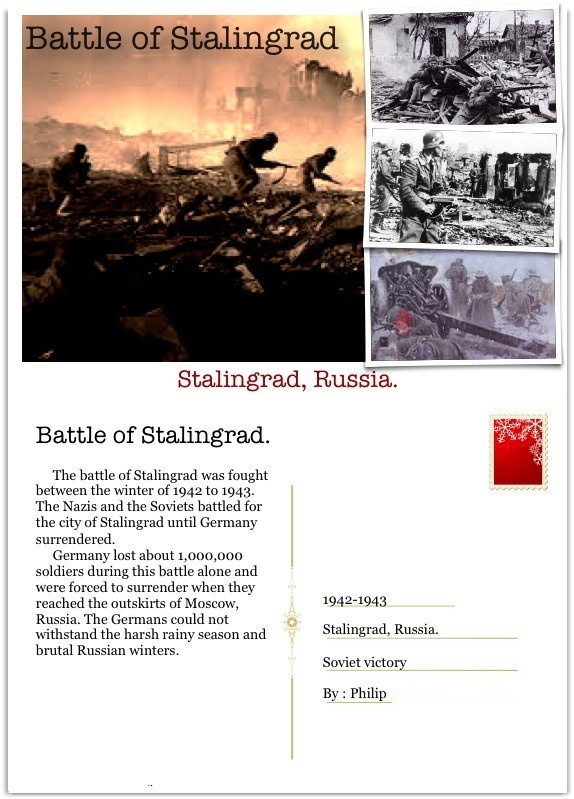 """Students """"used the Lifecards app on their iPod touch to create postcards that explain the major turning points of World War II""""   from ADE Sean Junkins http://sjunkins.posterous.com/postcards-from-the-battlefield-with-lifecards"""