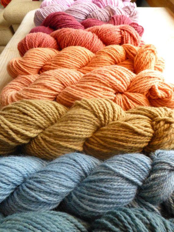Natural dye, merino wool knitting yarn