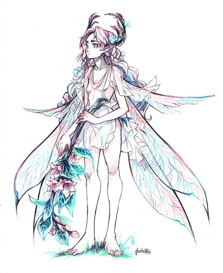 Elven Fairy by glaciesClOvEr.deviantart.com on @DeviantArt