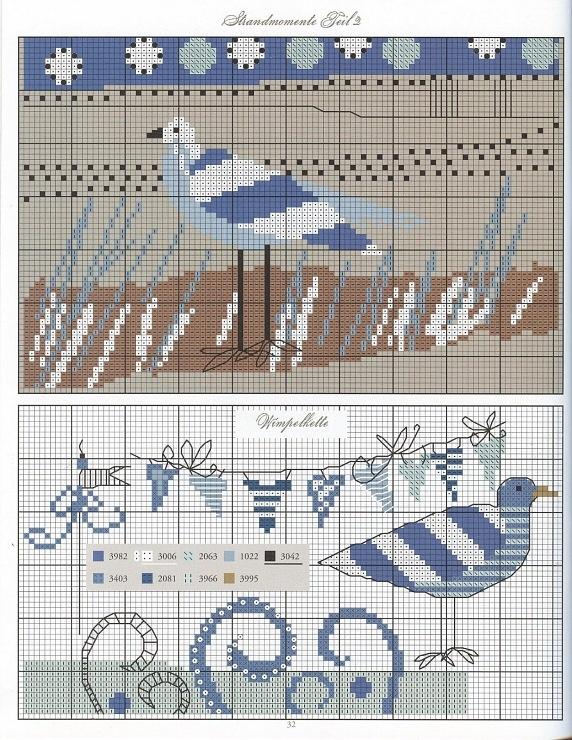 STRAND 1/3 seagull beach theme