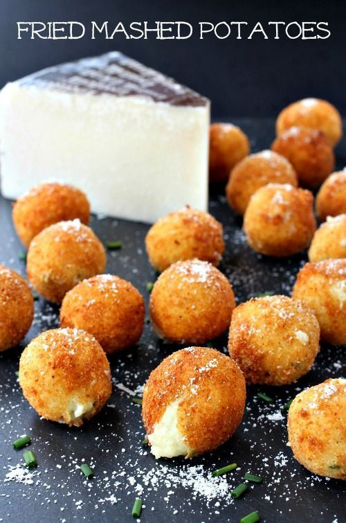 Use leftover mashed potatoes to make these creamy on the inside and crispy on the outside Fried Mashed Potatoes!