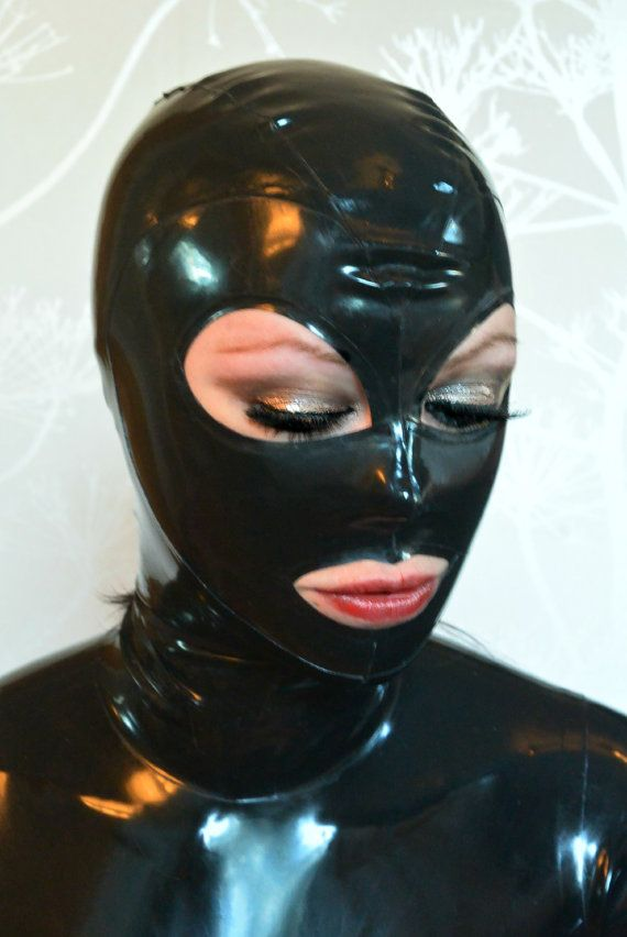 Latex hood size small by LickyLinn on Etsy