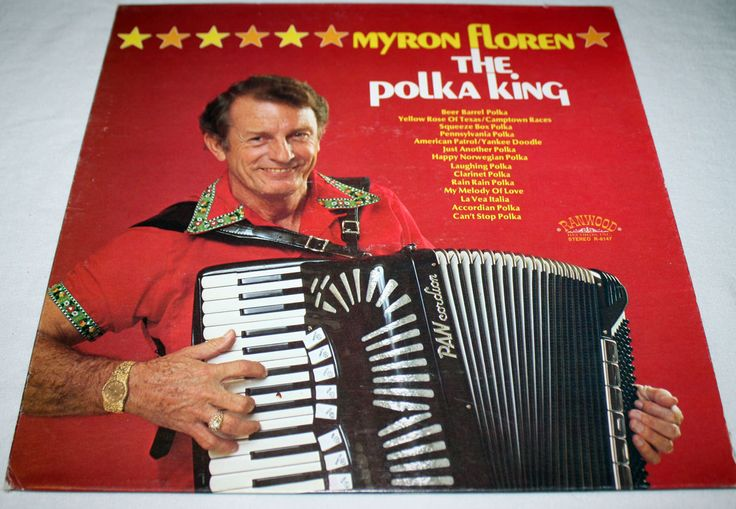 Myron Floren The Polka KIng on Ranwood Records Stereo R 8147 Polka Music Folk Music Cover Art