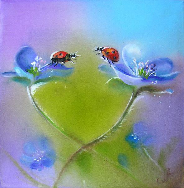 Peinture sur soie d' Annette Loginova                                                                                                                                                                                 Plus