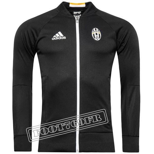 Nouveau: Veste Juventus Noir 2016 2017   Veste Survetement - Foot769Fr