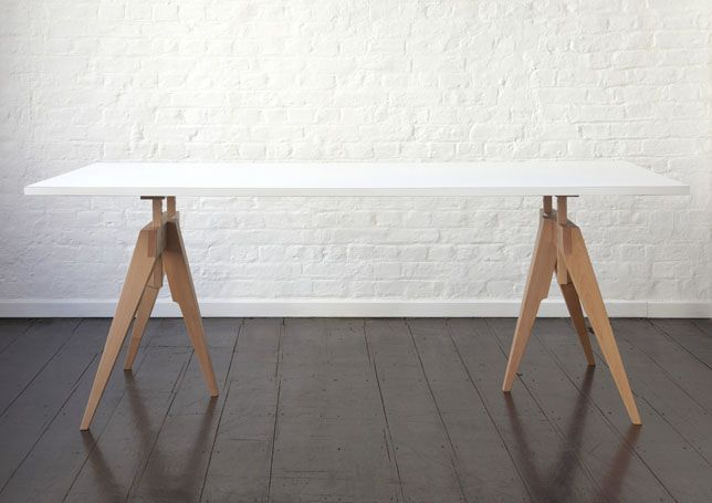 I Love this! COMPASS at Hub Furniture - $1,500 for the pair of legs, 22 weeks lead time.