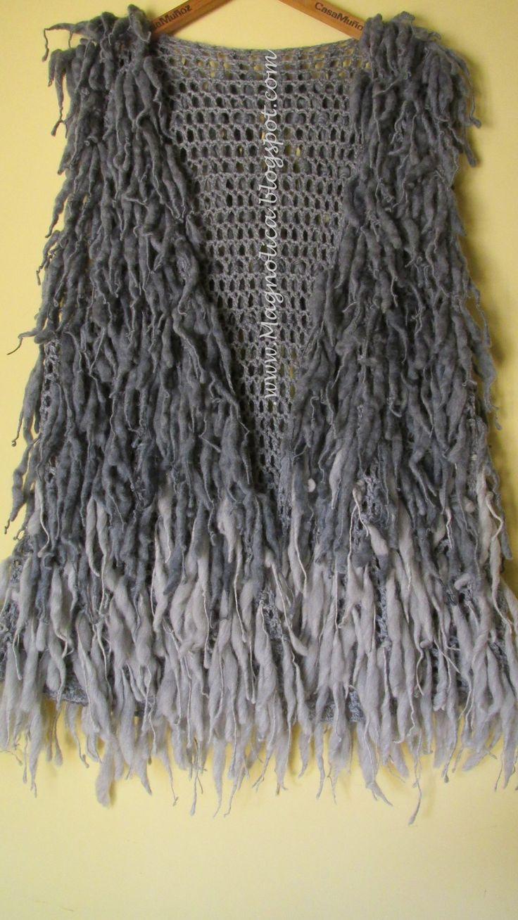 Magnolica: Chaleco con flecos otoño 2015                                                                                                                                                                                 More