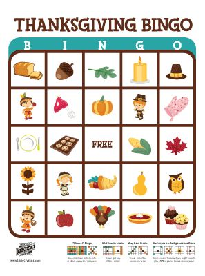 Juicy image within free printable thanksgiving bingo