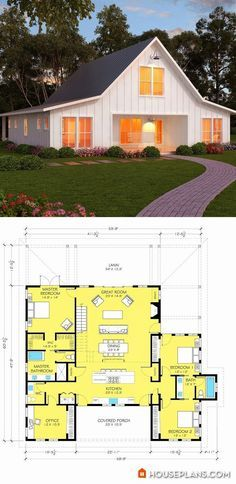Best 25 ranch floor plans ideas on pinterest ranch for 40x50 shop cost