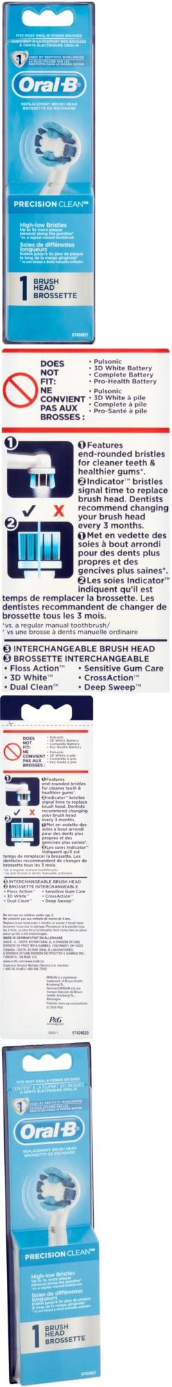 Toothbrush Replacement Heads: Oral-B Precision Clean Replacement Brush Head -> BUY IT NOW ONLY: $30.56 on eBay!