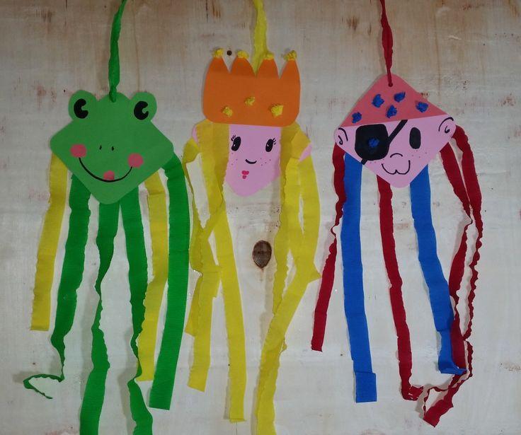 Fasching im Kindergarten- Basteln mit Kindern – Andrea