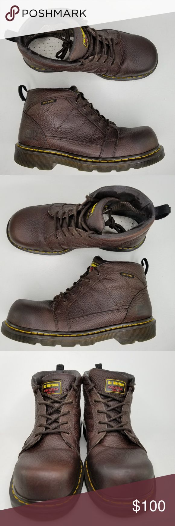 Dr. Martens Reactor Safety Toe 5Eye Leather Boots in 2020