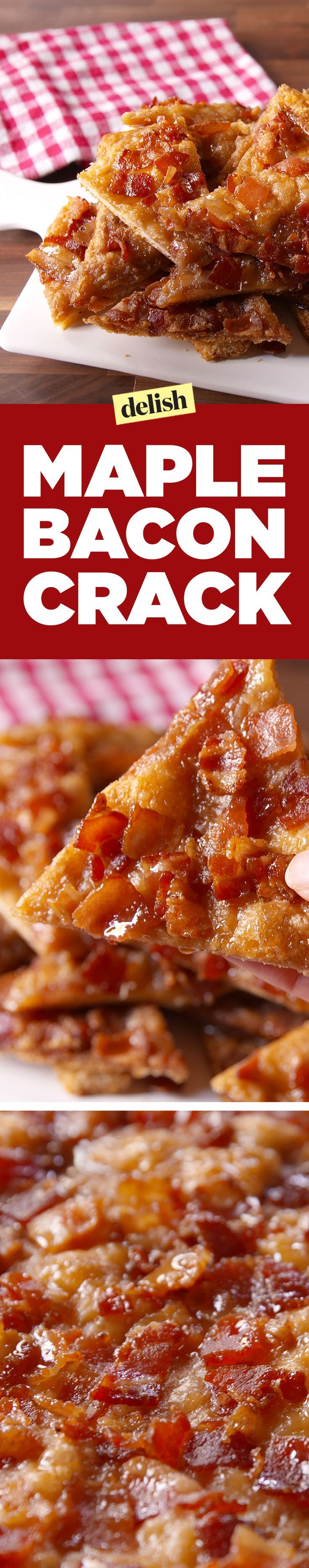 Maple Bacon Crack is the candied bacon treat you've been waiting for. Get the recipe on http://Delish.com.