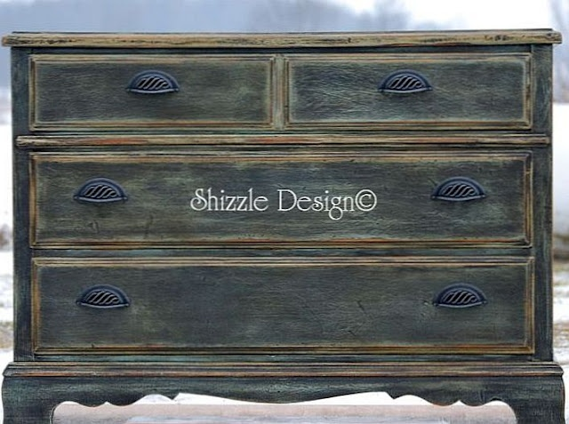Three Drawer Chest with Amazing Patina - sold