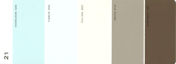 Martha Stewart Paint 5 Color Palette Card 21 Available From S H