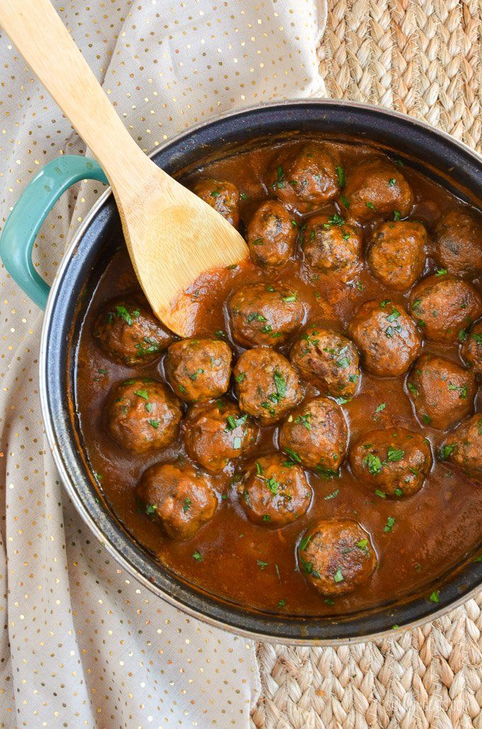 Delicious Syn Free Mushroom and Parmesan Chicken Meatballs with a Rich Onion Gravy - great with mashed potatoes and vegetables.