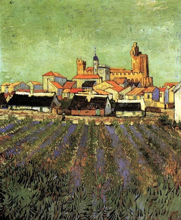 Vincent van Gogh. View of Saintes-Maries: Vangogh, 1853 1890, Vans, Art, View, Vincent Van Gogh, Painting