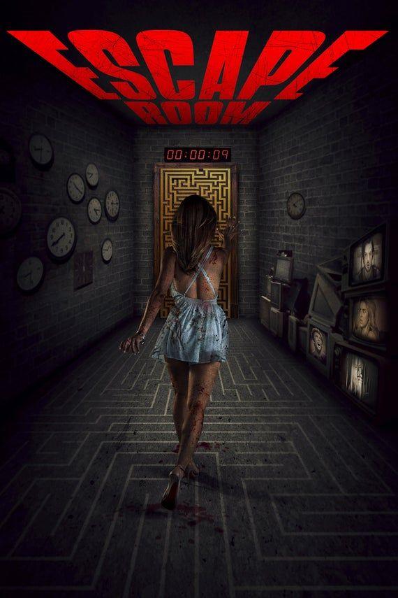 Escape Game 2019 Streaming : escape, streaming, Escape, Suspense, Horror, Movie, Poster, Print, Decor, 13x20, 32x48, Movies,, Movies, Online, Free,