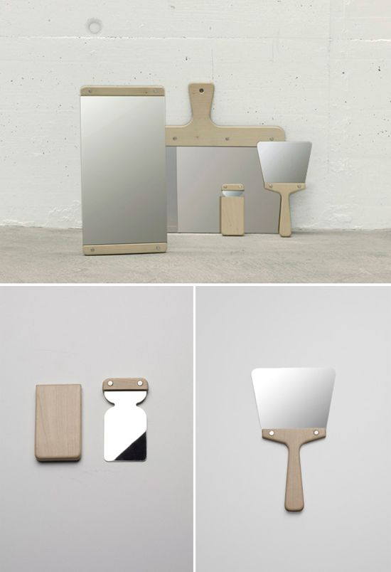 Mirrors etc based on decorating tools. Very nice.