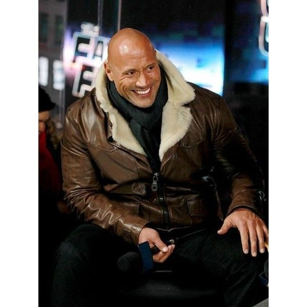2017 The Fate of the Furious Johnson Brown leather Jacket ($165) via Polyvore featuring outerwear, jackets, 100 leather jacket, genuine leather jackets, leather jackets, brown jacket and brown leather jacket