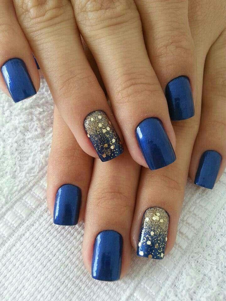 Navy and Gold #NailArt #Nails