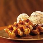 Waffles with Haägen-Dazs ice-cream