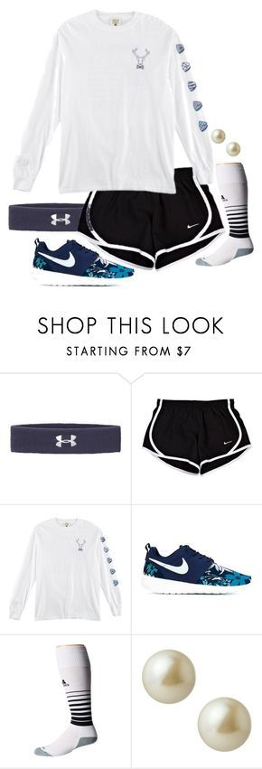 """scored a goal in field hockey today!!!"" by prep-life-is-good-life ❤ liked on Polyvore featuring Under Armour, NIKE, adidas, Carolee, women's clothing, women's fashion, women, female, woman and misses"