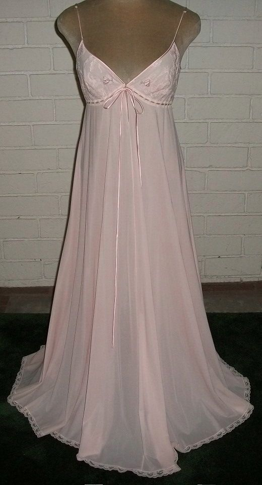 60's Mad Men Vintage Claire Sandra by Lucie Ann Beverly Hills Nightgown Pink M.  FOR SALE !! Contact me at mailto:sjcintn@gm... BEST PRICES , ANYWHERE !!! #30