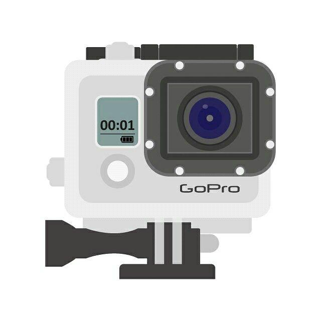 Flat design GoPro