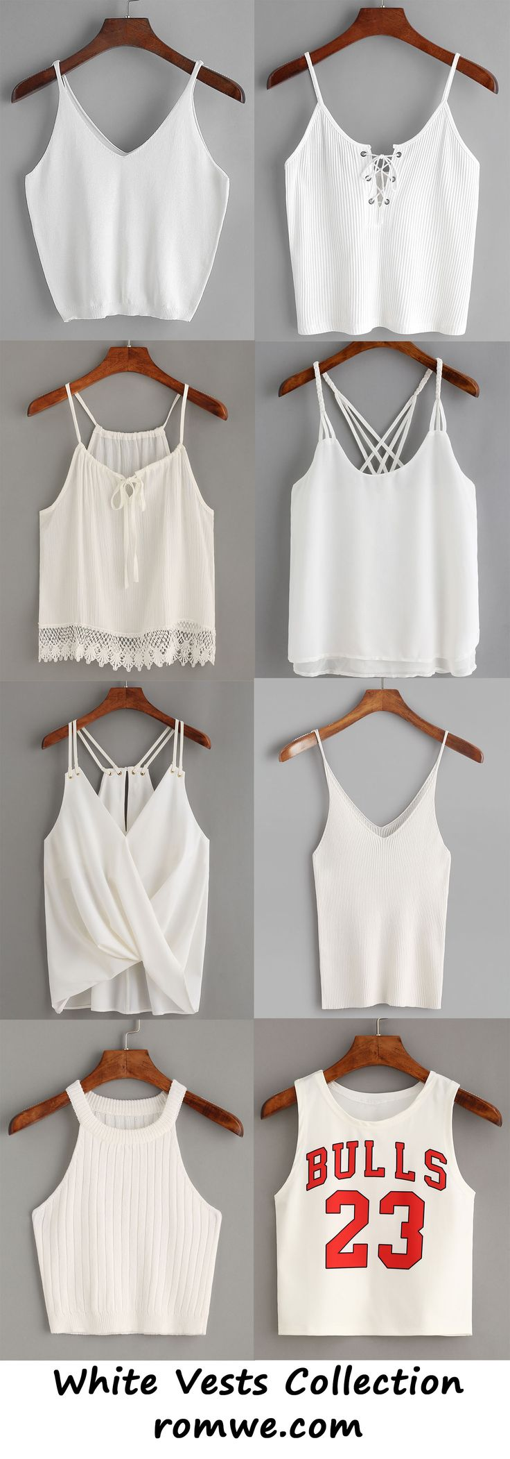 white vests collection - romwe.com