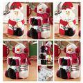 Mantener las toallas y sostener botellas de Vino Cubre regalo de navidad Santa Claus muñeco de nieve de Navidad Regalos de Navidad Decoración para el Hogar