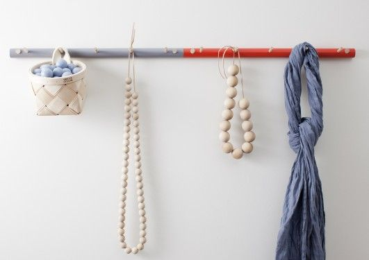 Verso Oksa 50 cm Birch Branch Coat Rack in Orange and Grey | Coat Hanger | Hallway | Finnish Design | www.homearama.co.uk | #versodesign #verso #coatrack #coathanger #finnishdesign