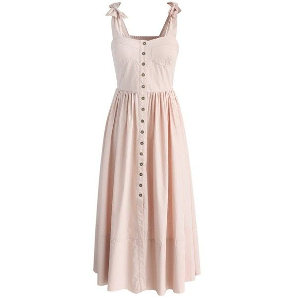 Chicwish Dashing Darling Cami Dress in Light Pink ($62) ❤ liked on Polyvore featuring dresses, vestidos, pink, pink cami, vintage pink dress, boho dresses, pastel dress and pink dress