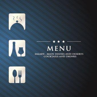 Luxurious restaurant menu vector set 08