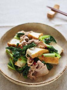 小松菜と豚薄切り肉の炒め煮 by ゆーりん   レシピサイト「Nadia ...
