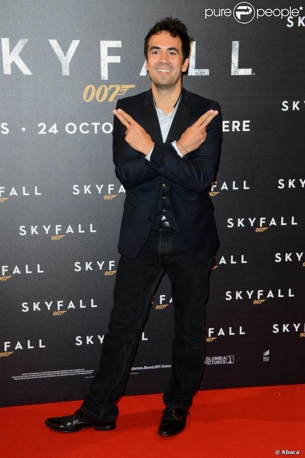 Alex Goude lors de l'avant-première du dernier James Bond, Skyfall, le 24 octobre 2012 à Paris