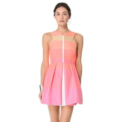 Camilla and Marc soft washed neon striped dress