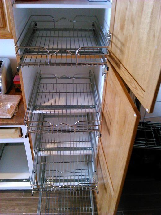 Sliding rack installed, after